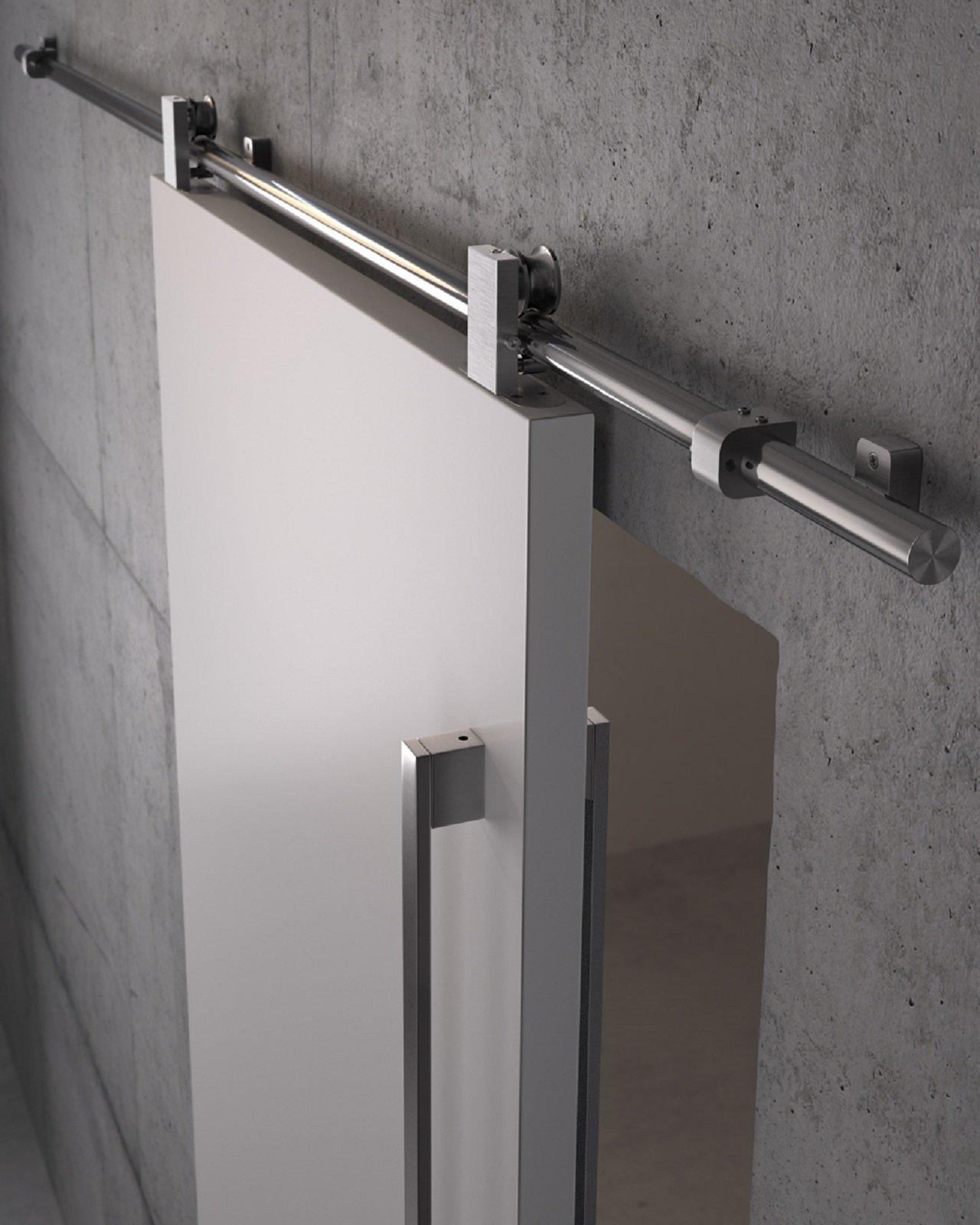La porta scorrevole è ideale, dove è necessario risparmiare spazio.