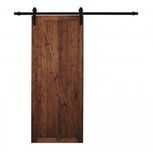 Non servono interventi murari per installare la porta scorrevole Factory Noce di Leroy Merlin in legno massello color noce. Con uno spessore di 4 cm, misura L 86 x H 213 cm. Il senso di apertura è reversibile. Prezzo 289,90 euro. www.leroymerlin.it