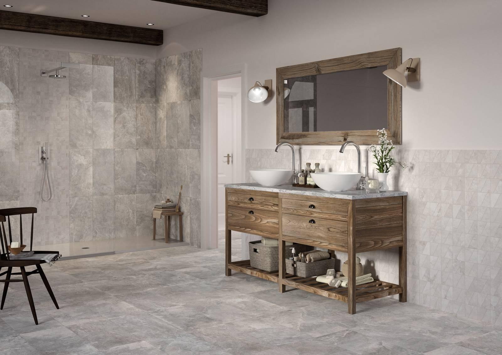 Piastrelle un bagno di stile con le collezioni - Stuccare piastrelle bagno ...