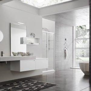 Arcom bagno Rush, doccia AKS-S6 total look