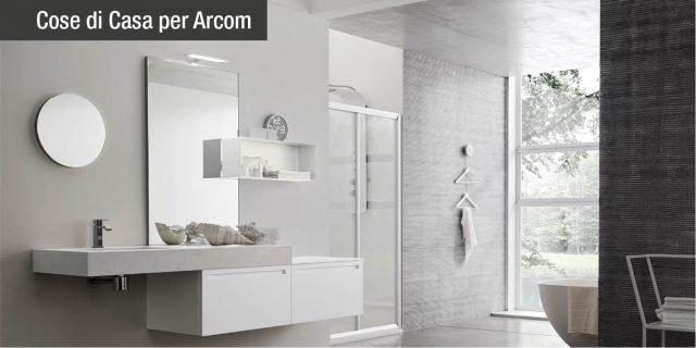Tutto il bagno di Arcom: dal mobile ai complementi, fino alla doccia