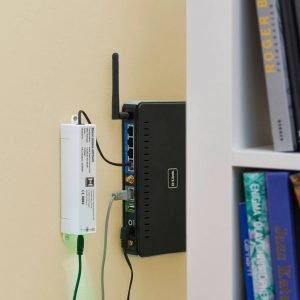 """Per poter usare l'App anche in viaggio, basta collegare l'accessorio """"BiSecur Gateway"""" con il router e registrarlo una sola volta, gratuitamente, su Internet."""
