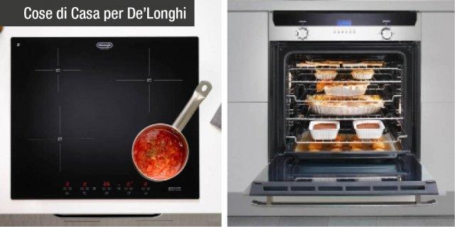 Novità De'Longhi Cookers: piano a induzione regolabile a partire da 1 kW e forno di misura standard ma con cavità maxi
