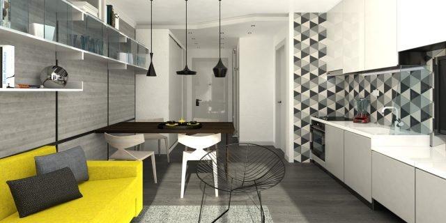 Soggiorno con cucina: come disporre i mobili e dove mettere la zona ...