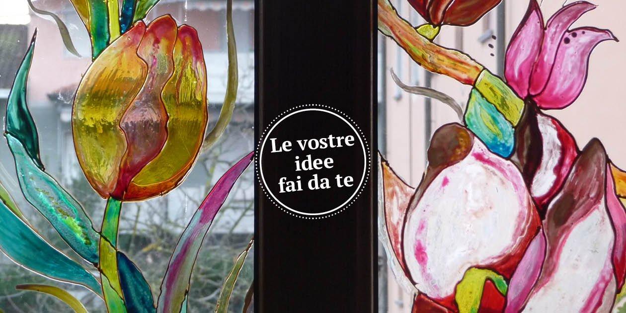 Vetro come dipingerlo vetrata e sopraporta artistico fai for Arte fai da te casa