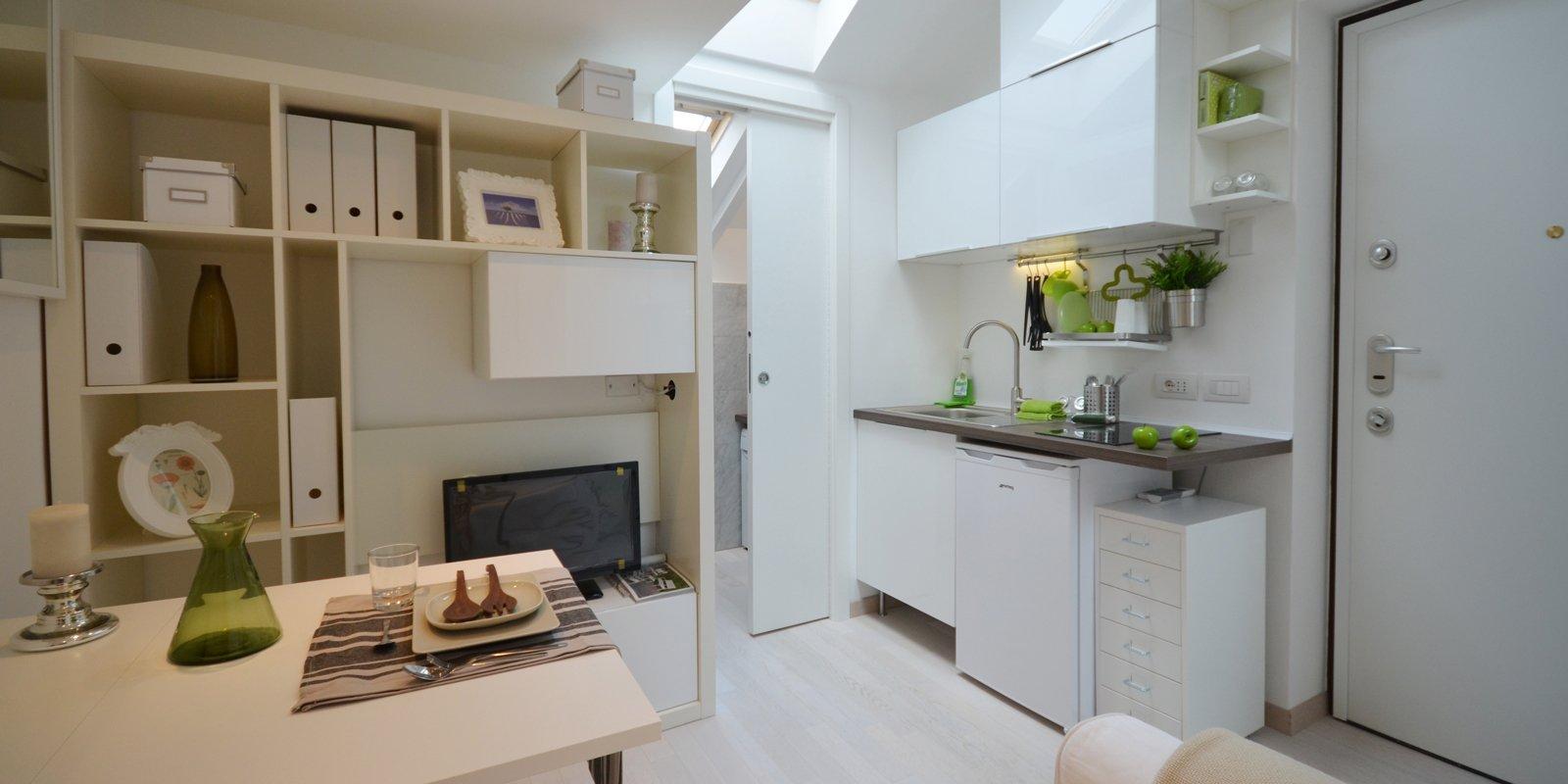 Monolocale di taglia small nella mini mansarda 8 spunti for Mini case interni
