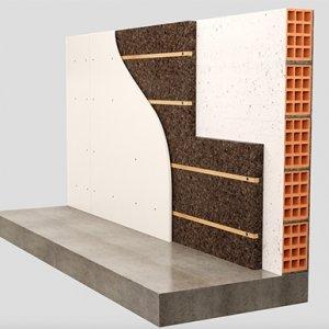 Cork-Self di Tecnosugheri è un pannello in sughero Corkpan; è disponibile in due spessori, 4 o 6 centimetri, e viene fresato in stabilimento per arrivare in cantiere già con una struttura composta la listelli incassati, necessari per la posa alla parete e per il fissaggio del rivestimento. Permette la posa a secco, garantendo velocità di esecuzione, ed è facilmente manovrabile in cantiere. www.tecnosugheri.it