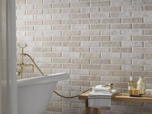 Brick generation e design 3d le pareti diventano - Piastrelle effetto mattone ...