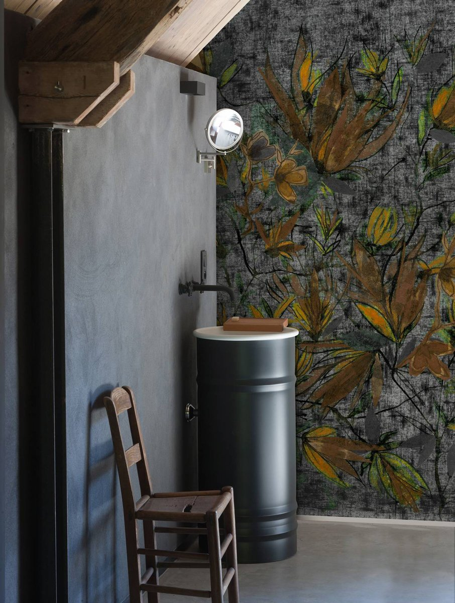 Carta da parati in bagno: tra decor floreale e geometrie ...