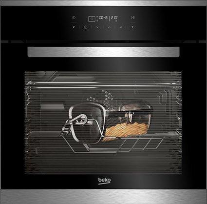 Il forno con 12 funzioni di cottura BIMF25400XMS della linea Superia di Beko è in classe energetica A, è largo 60 cm e ha volume utile di 65 litri. Con programmatore di cottura, è fornito con accessorio per friggere solo con una piccola aggiunta di olio per una frittura sana e a basso contenuto di grassi. Prezzo 599 euro. www.beko.it