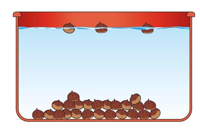 La novena Questa antica tecnica per conservare le castagne, consiste nel metterle a bagno nell'acqua fredda per un periodo di 9 giorni, cambiando l'acqua giornalmente. Le castagne non buone verranno a galla e i microrganismi aerobi che inducono muffe e marciumi, verranno eliminati. Una volta estratte dall'acqua, devono essere asciugate e poi riposte in frigorifero per conservare le castagne anche 3 mesi.