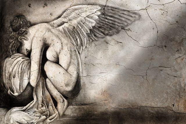 """""""Sweet Angel"""", wallpaper 79 della Collezione Contemporary Design - catalogo 2017 di Skinwall"""