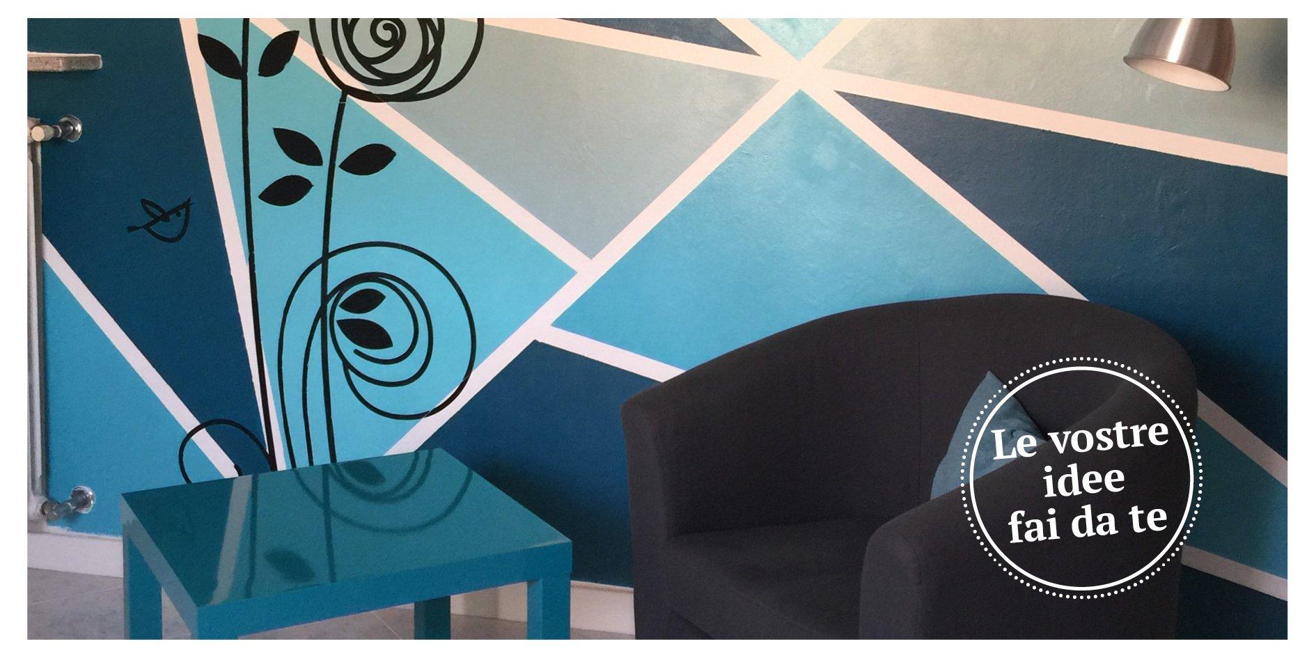 Tinteggiare la parete con una decorazione geometrica for Decorazione di casa