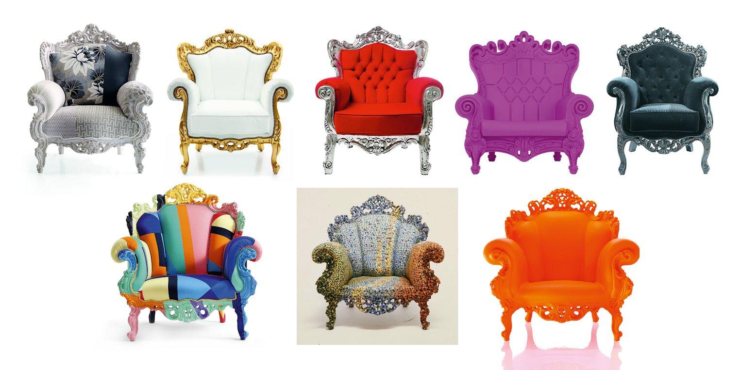 La poltrona in stile barocco perfetta in ambienti moderni for Poltroncine colorate