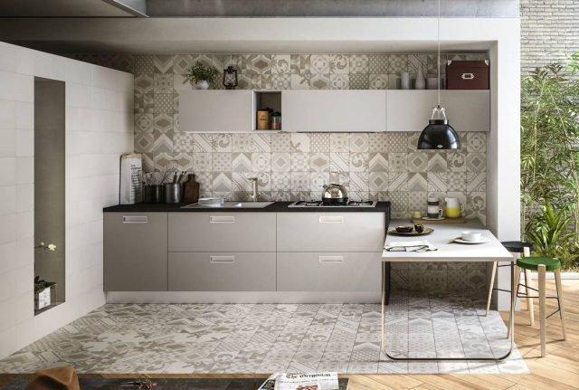 Piastrelle cucina rivestimento cucina effetto cementina