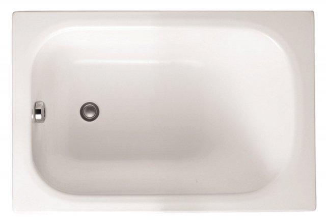 È molto compatta, ma con grande spazio all'interno, la vasca rettangolare mini di Leroy Merlin in acrilico bianco. Può essere installata a incasso, angolo, parete o nicchia. Misura L 105 x P 70 cm. Prezzo 99 euro. www.leroymerlin.it
