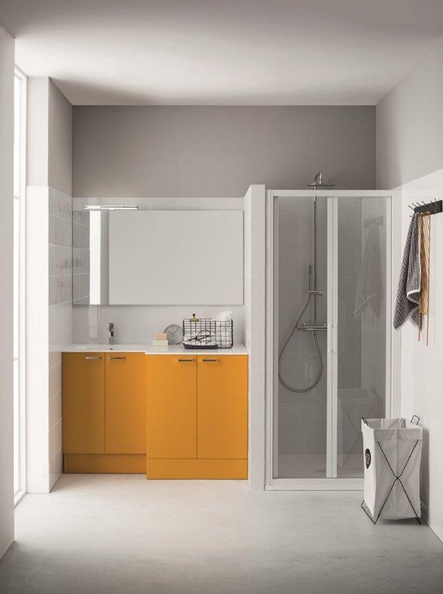 18 soluzioni salvaspazio per il bagno per risparmiare centimetri preziosi - Mobile bagno lavatrice lavabo ...