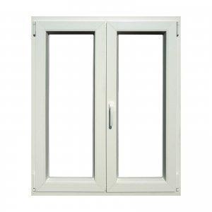 La finestra in PVC bianco di Leroy Merlin combina la classica apertura a battente a quella a vasistas. Misura L 100 x H 120 cm. Prezzo 159 euro. www.leroymerlin.it