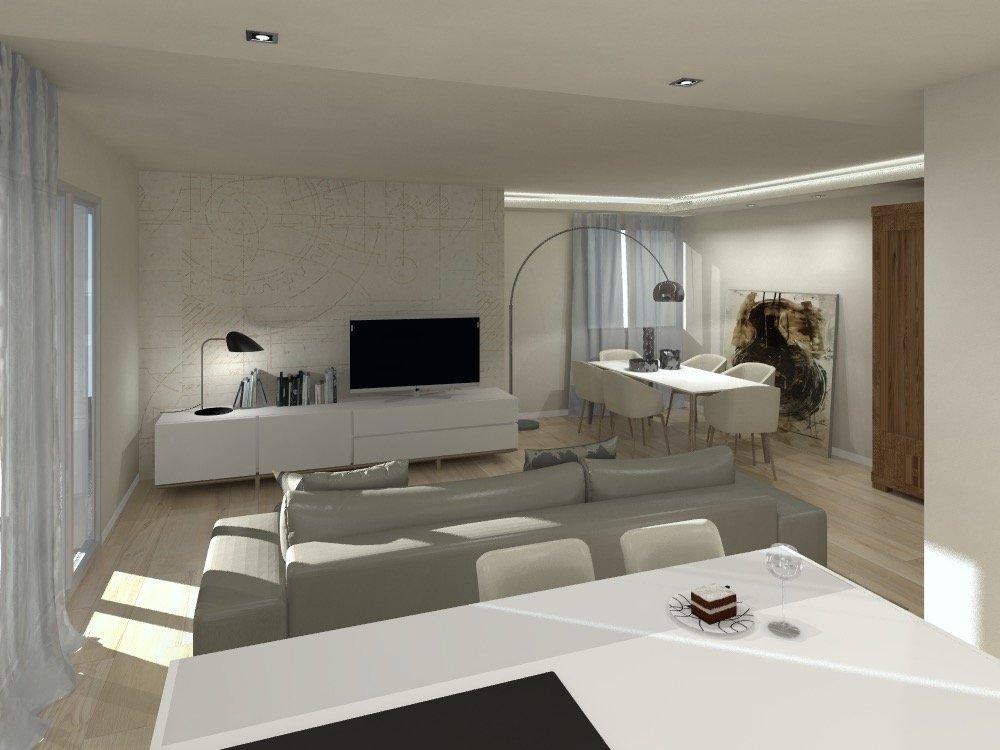 Progetto in 3D: cucina a vista e nuovo secondo bagno - Cose di Casa