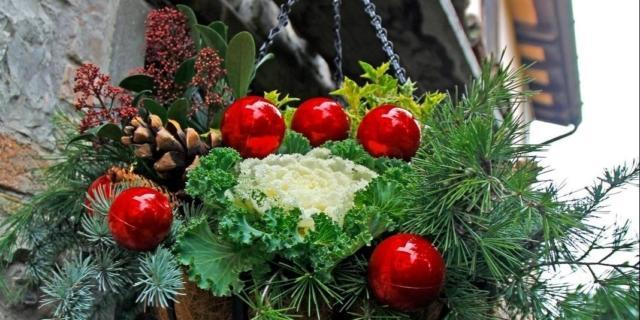 Decorazione natalizia da appendere all'ingresso