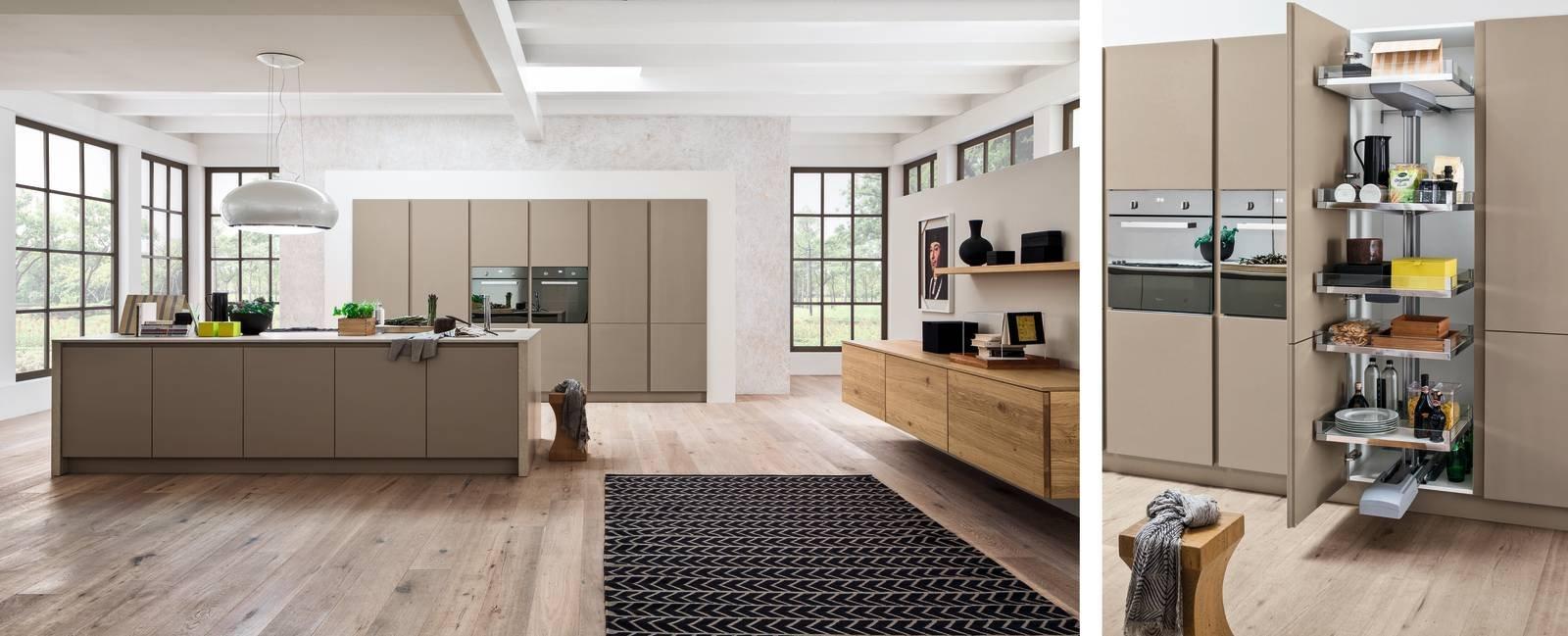 Dentro i mobili della cucina spazio in pi facile da for Arrex zenzero