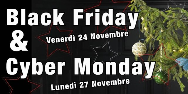 Black Friday e Cyber Monday: la prima corsa ai regali di Natale superscontati