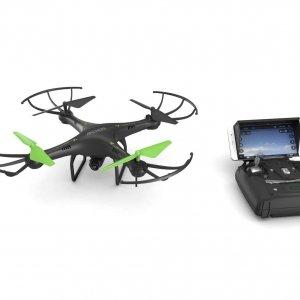 L'ARCHOS Drone è un piccolo oggetto ready-to-fly che può raggiungere i 50 metri di altezza e volare ad una velocità di 7.7 metri al secondo per circa 7 minuti. Può essere utilizzato per puro divertimento o per sorprendenti filmati HD che non è possibile realizzare in altro modo. Possiede 8 eliche (4 di ricambio), 2 carrelli di atterraggio e 4 Gard di protezione. Il drone può essere manovrato facilmente e le eliche sono sostituibili in caso di danni, rendendo il dispositivo particolarmente adatto ai neofiti. Con un giroscopio a 6 assi e un accellerometro, è dotato di tutte le funzioni che garantiscono un buon volo sia in spazi chiusi che all'esterno: decollo, atterraggio, altitudine, 360° flip, selezione della velocità e della modalità Headless. Il drone possiede diverse procedure automatizzate di volo, oltre ad un pulsante di emergenza in caso di necessità, che lo rende particolarmente semplice da utilizzare. Oltre a ciò, le luci a LED permettono anche di effettuare sessioni notturne. La fotocamera integrata da 1 MP è la vera attrazione, riprende tutti i tipi di video aerei, arrivando ad una risoluzione HD di 1280 x 720 pixel che possono essere archiviati nella scheda MicroSD da 4 GB inclusa. È dotato di un proprio Controller che consente collegamenti WiFi dedicati e che garantisce una connessione perfettamente stabile. Il drone può essere facilmente guidato con una Remote app prescaricata su uno smartphone con Google Android 2.2 o versioni successive o su un dispositivo Apple iOS 5.1.1 o versioni successive. Prezzo: 99,99 euro. www.archos.com