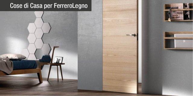 Sistema Zero: porte filomuro di FerreroLegno, arredi di puro design