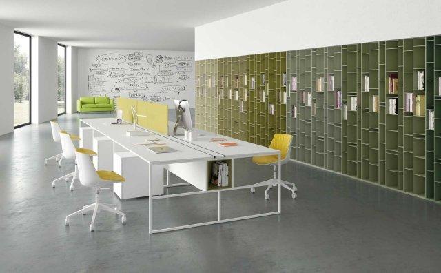 Libreria Random 2C e 3C, Sedia Flow, nuovo sistema per l'ufficio 20.Venti – Tutto di MDF Italia.