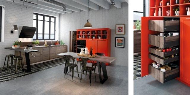 Dentro i mobili della cucina: spazio in più, facile da usare