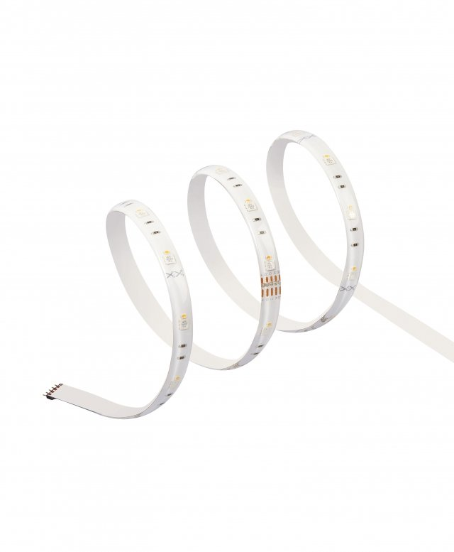 OSRAM SMART + LED strips from Ledvance compatible with Apple HomeKit, with 16 million colors.  They can be extended up to 6m and placed at home depending on your needs