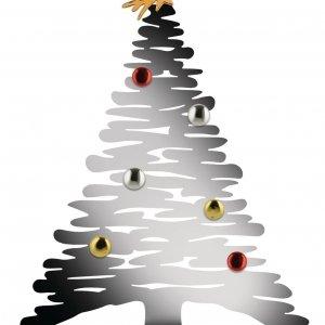 Bark for Christmas di Alessi è la decorazione natalizia interamente realizzata in acciaio Aisi 430 lucido con magneti in porcellana che permettono di personalizzare l'albero di Natale con fotografie, biglietti di auguri o altro. Misura L 35,5 x P 14 x H 45 cm. Prezzo 135  euro.  www.alessi.com