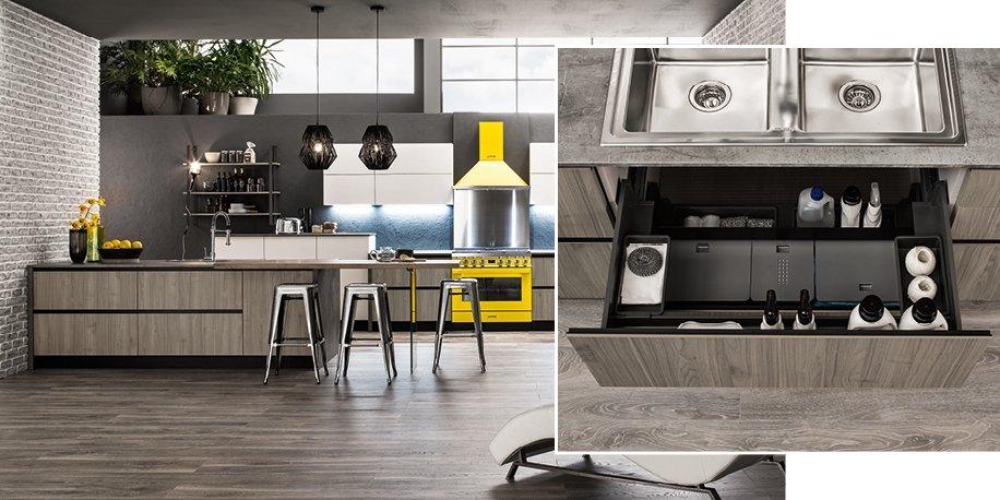 Pattumiera in cucina una cenerentola diventata regina - Ambientazioni cucine moderne ...