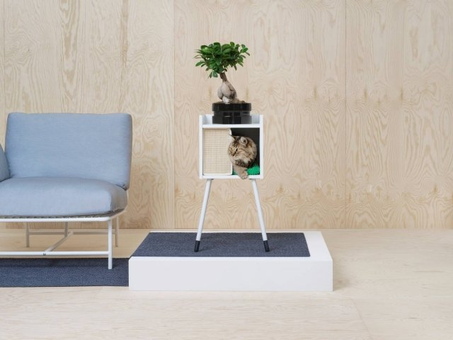 Ikea, cuccia su gambe Lurvig (anche pensile o inseribile nelle scaffalature Kallax).