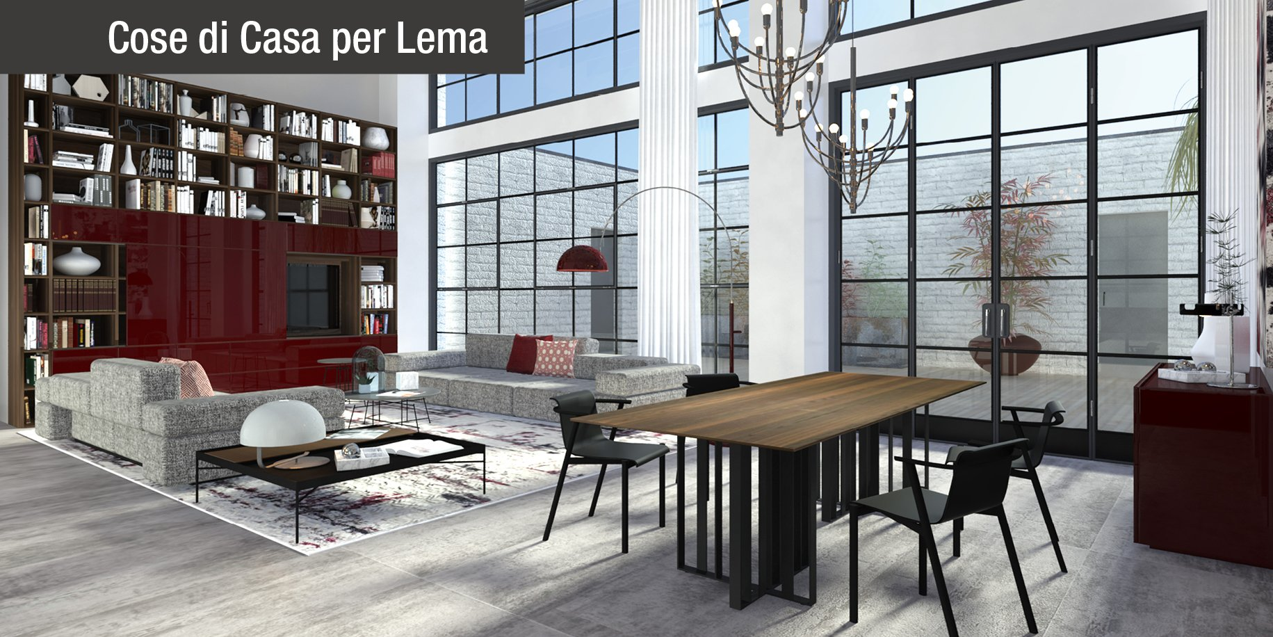 Arredare il loft stile industriale in versione elegante for Arredare 3d