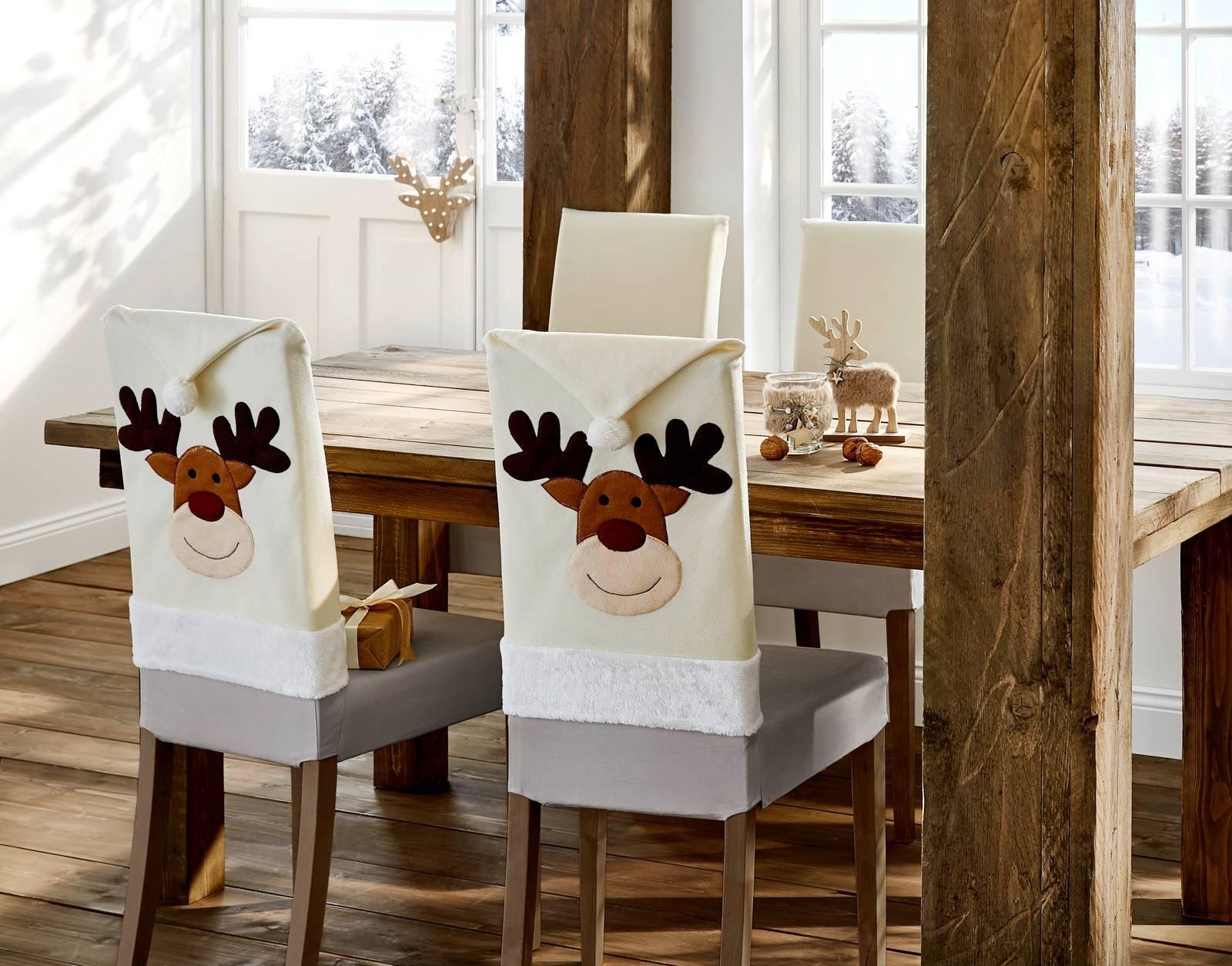 Come Creare Una Renna Luminosa coprisedia natalizi per creare l'atmosfera di festa con un