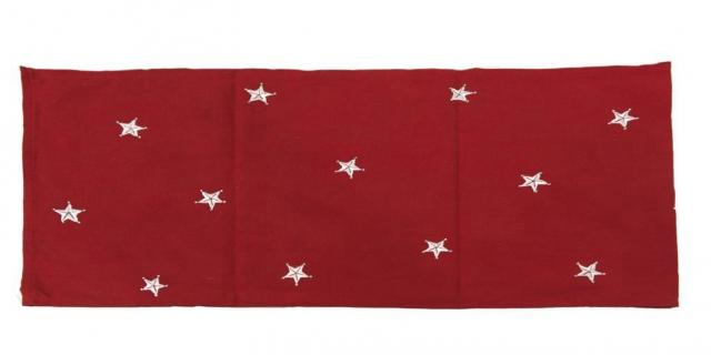 Runner GK-296  di Novità Home è una perfetta tovaglia di Natale. In cotone rosso decorato da stelle bianche, misura 40x150 cm. Prezzo 49,70 euro il set di 2 pezzi. www.novitahome.com