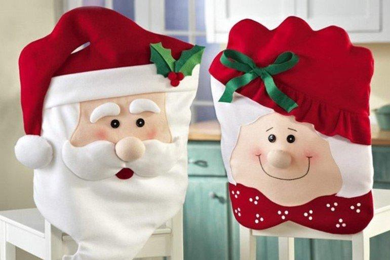 ... Babbo Natale E Mrs. Santa Claus Di DottorGadget Sono Fodere Coprisedia  In Poliestere. Babbo
