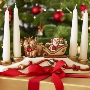 Portacandele Babbo Natale di Thun.