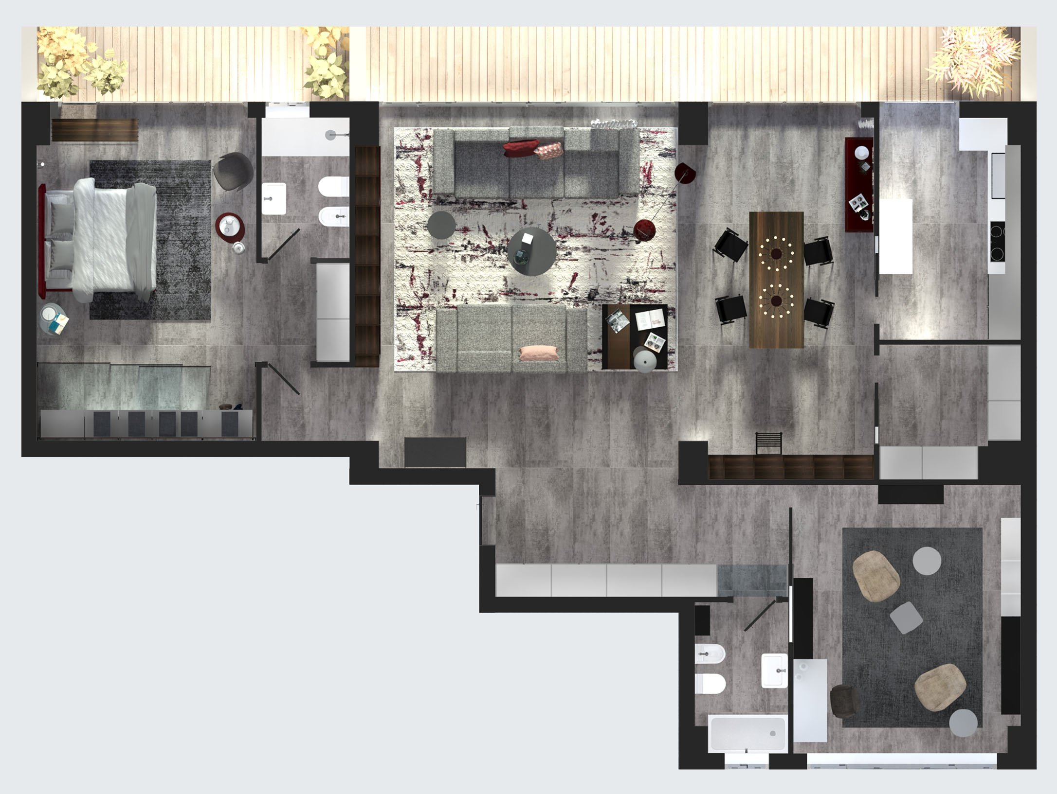 Arredare il loft stile industriale in versione elegante e sofisticata progetto in 3d cose - Progetto casa design ...