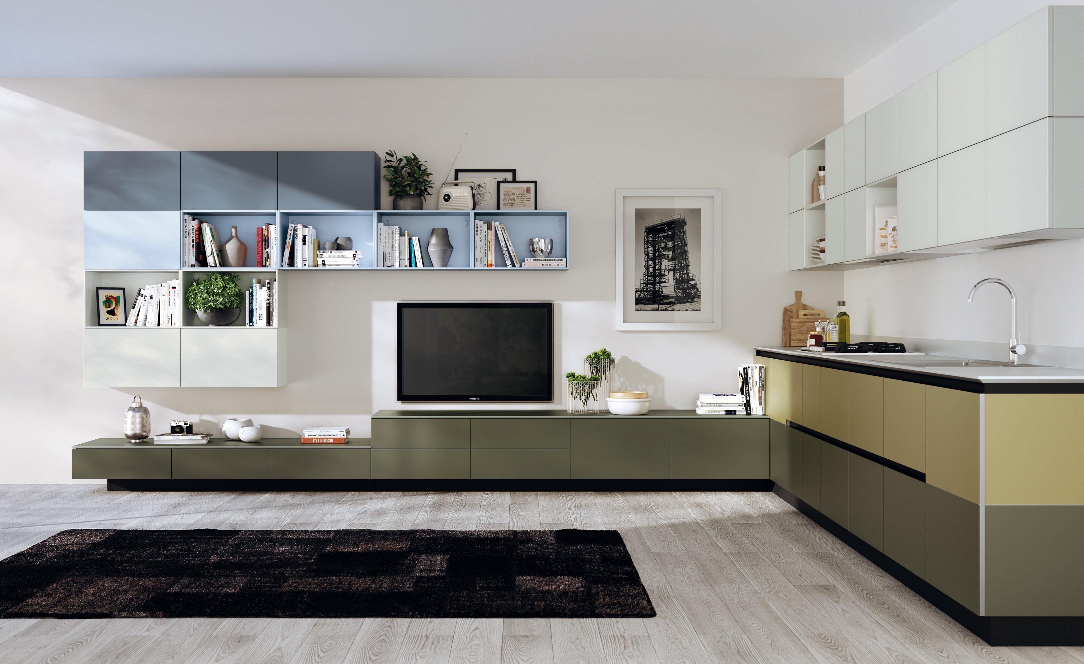 Cucina vani a giorno per dare movimento alla composizione cose di casa - Living e cucina ...