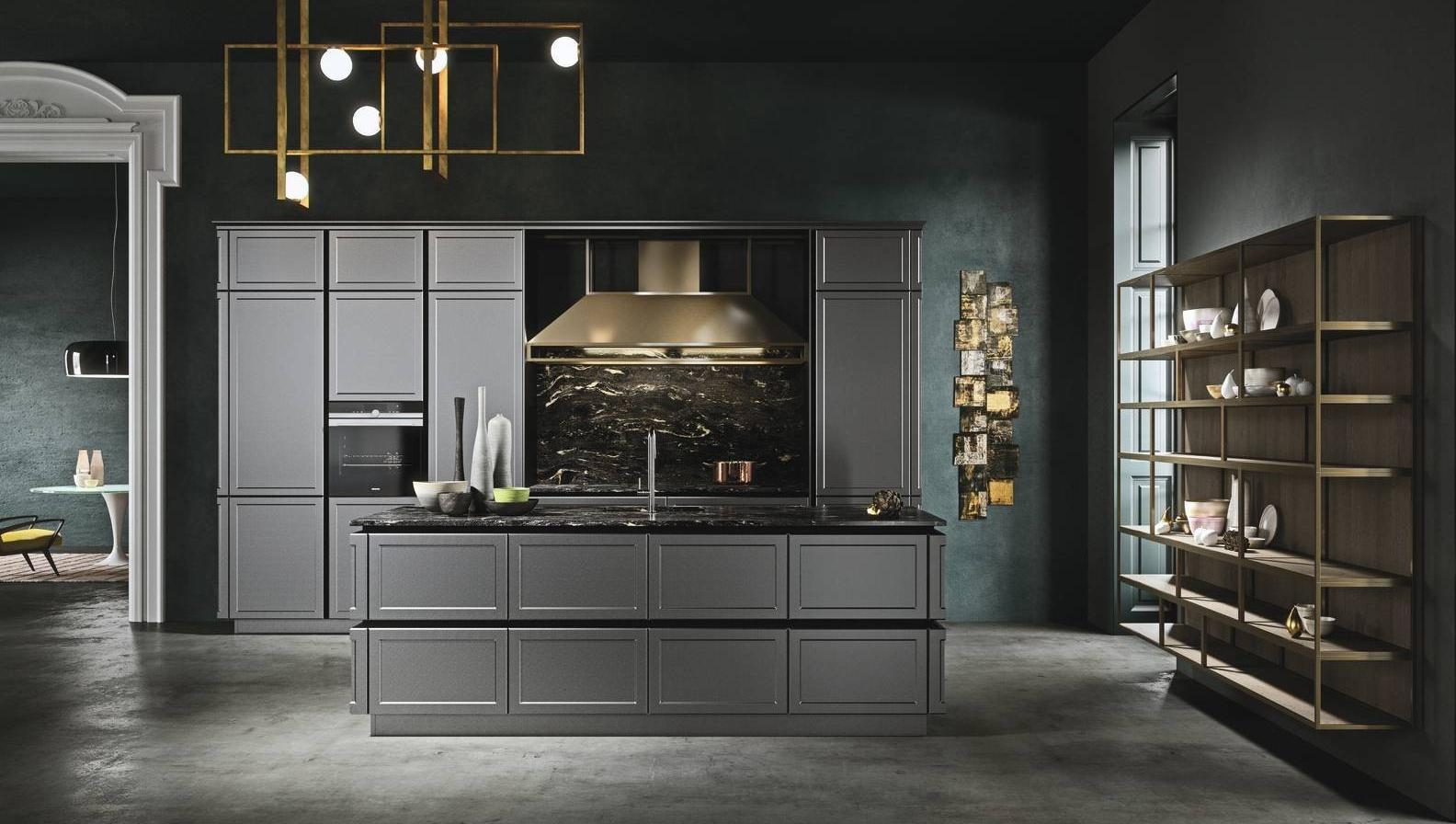 Snaidero cucina frame grigio piombo 1 cucine con top extra - Top cucina grigio ...