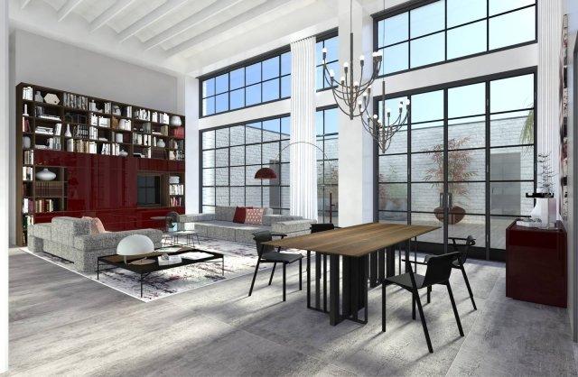 Arredare il loft stile industriale in versione elegante for Soggiorno elegante