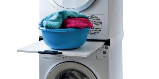 Supporto per asciugatrice e lavatrice in colonna cose di for Supporto asciugatrice ikea