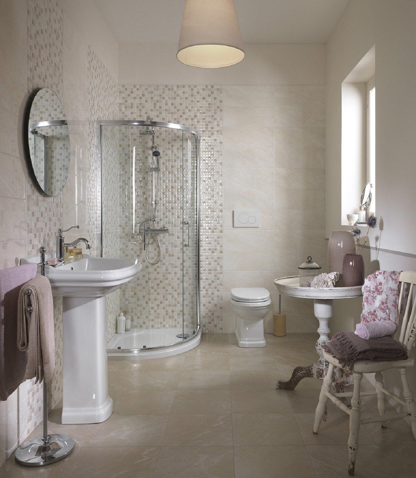 I lavabi e i sanitari per il bagno in stile classico e retr - Specchi da terra leroy merlin ...