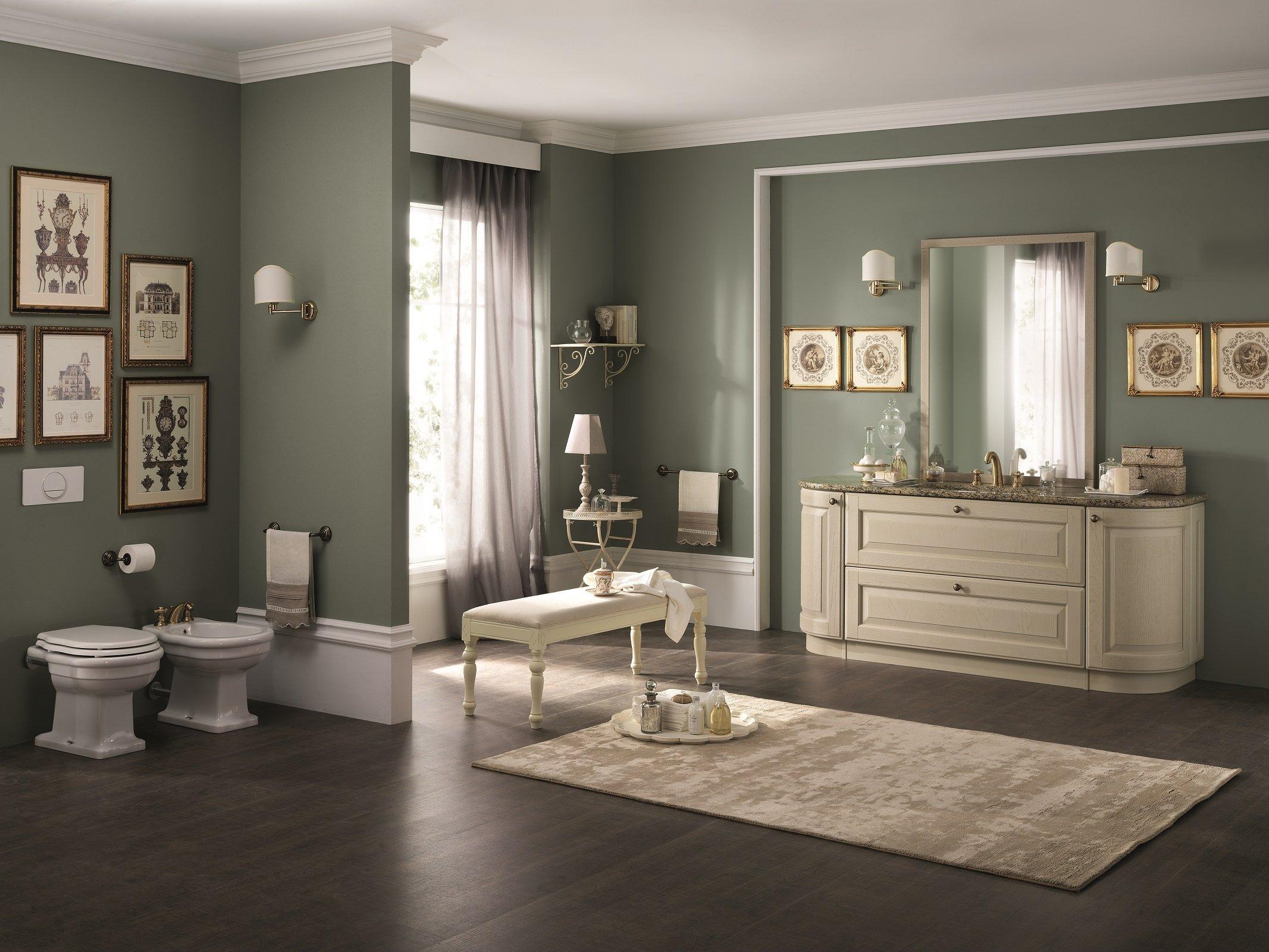 I lavabi e i sanitari per il bagno in stile classico e retrò
