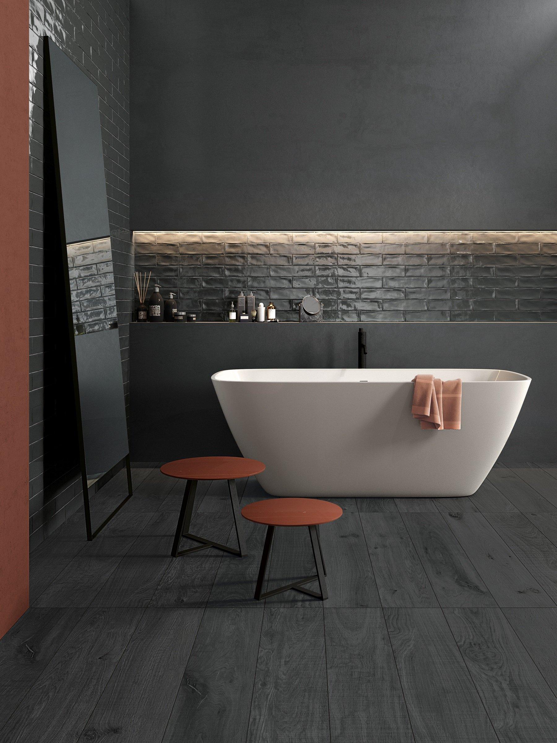 Piastrelle per il bagno il trionfo del gres effetto cose di casa - Piastrelle bagno effetto mosaico ...