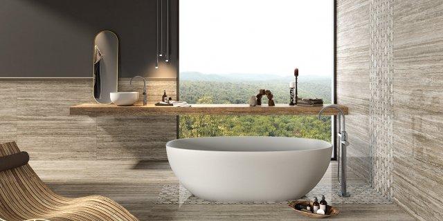 Piastrelle per il bagno: il trionfo del gres effetto... - Cose di Casa