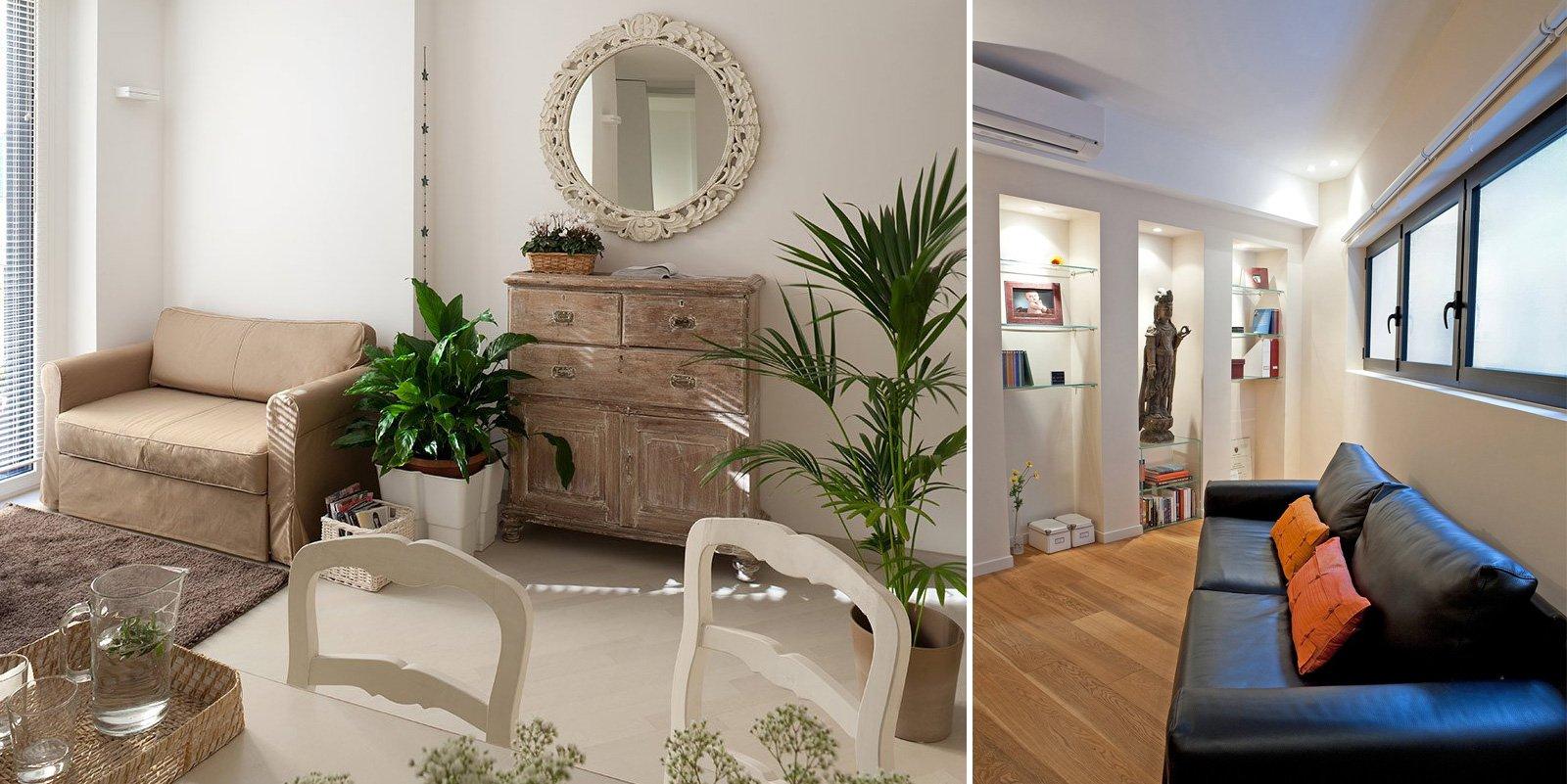 Case piccole due soluzioni diverse di 44 mq e 37 mq for Design interni case piccole