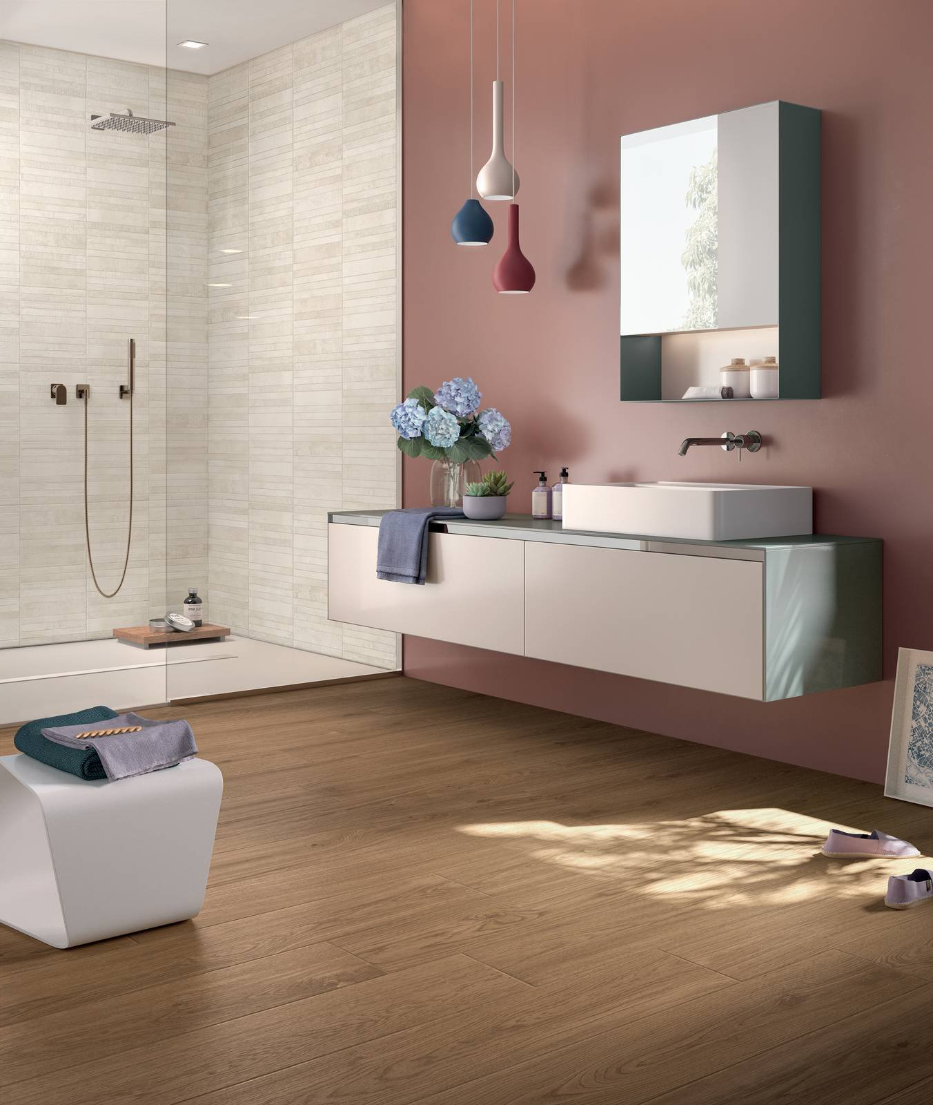 Piastrelle per il bagno il trionfo del gres effetto for Gres porcellanato immagini